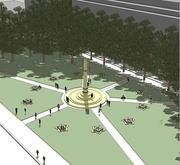 Entry by Nir Buras for the Eisenhower Memorial Counterproposal Competition.