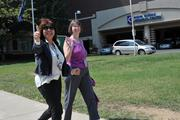 Employees at Inova Health System in Fairfax get active during lunchtime as part of weight loss contests in the company.