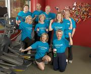 Leadership of Kaiser Permanente of the Mid-Atlantic States demonstrate their commitment to fitness.