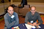 Ricardo Sacasa, left, with Luis Checa of Checa Architects at the Multifamily Development Symposium.