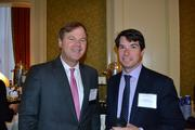 David Webb, left, of Cassidy Turley, with Greg Rooney of The Bernstein Cos. at the Multifamily Development Symposium.