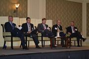 The panel consisted of Jonathan Cox, from left, of Avalon Bay Communities Inc.; Brad Fennell of William C. Smith & Co.; David Webb of Cassidy Turley; Adrian Chapman of WGL Holdings, Inc. and Washington Gas; and Stephen Fuller of George Mason University.
