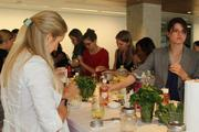 Advisory Board Company hosted a cooking class in the new fourth floor lounge space.