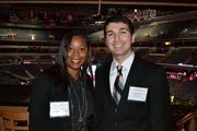 Kelli Chatman of Prudential PenFed Realty with Andres Gorne from Cvent Inc. at the BizMixer at the Verizon Center.