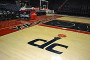 Guests were given a tour of the Verizon Center at the BizMixer, starting with the basketball court.