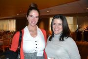 From Interface Media Group: Janine Pesusich, left, and Meghan Guerrero at the BizMixer at the Verizon Center.