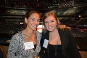 Loree Lipstein, left, from KaBOOM, and Olivia Adams from Cvent Inc. at the BizMixer at the Verizon Center.