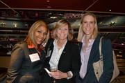 Joan Jackson, from left, of Prudential PenFed Realty, Kathleen Koehler from BB&T Insurance Services, and Caroline Morris from Capitol Financial Partners at the BizMixer at the Verizon Center.