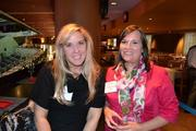 Nancy Wolff, left, from Auxis, with Annabeth Killen from Cessna Aircraft Company at the BizMixer at the Verizon Center.