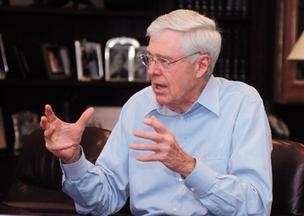 Charles Koch and his brother, David, ranked No. 12 on Forbes' list of billionaires with a net worth of $25 billion each.
