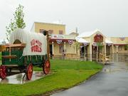 A variety of buildings, including those that composed the mock Main Street in Wild West World, will be up for auction.