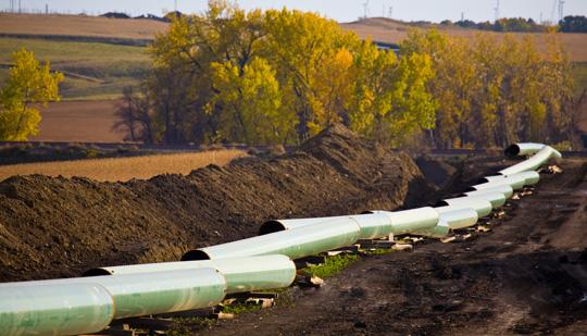 TransCanada Corp. says it will move ahead with construction on an oil pipeline from Cushing, Okla., to the Gulf Coast, a portion of the Canada-to-Texas Keystone XL pipeline it has been pushing to build.