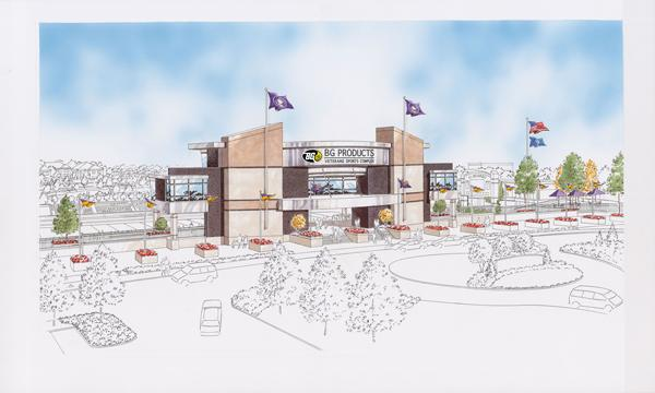 The planned BG Products Veterans Sports Complex in El Dorado will be built by Crossland Construction Co.
