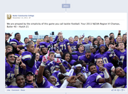 Butler Community College Why it's cool: Timeline lets you highlight status updates that you want to span the full width of your Facebook page. Butler is using this to showcase some great photos.