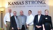 The Kansas Strong board of directors, from left: Jon Callen, David Dayvault, Dick Schremmer, Mark Shreve, Wayne Woolsey, and J.L. White-Fuller.