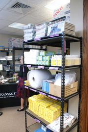Kansas Strong's new office includes a storeroom where the program can store all its educational materials.