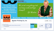 Wooten Printing Co. Inc. Why it's cool: Well-designed brand promotion for the cover photo.