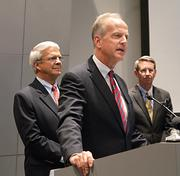 U.S. Sen. Jerry Moran spoke Monday at an Airbus suppliers' conference in Wichita.