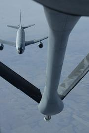 The KC-135s are also equipped to be refueled themselves during flight.