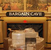 The Bargain Cave features discounted prices on returned and discontinued merchandise.