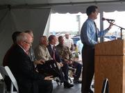 Kansas Gov. Sam Brownback was among the speakers at the ceremony marking the opening of Cabela's new Wichita store on Wednesday.
