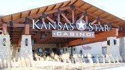 The main entrance to the Kansas Star casino.