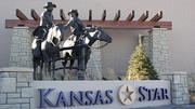 A sculpture outside the casino is just one of many Kansas touches at thefacility.