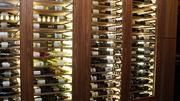 A large wine locker sits just inside the Woodfire Grille entrance. Allbottles will be $10 over the casino's cost.