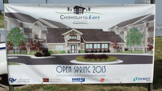 Developers broke ground Tuesday at Chisholm Lake Apartments, an upscale 208-unit complex in northeast Wichita.