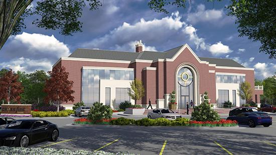 CrossFirst Bank is building its new Wichita office, shown in an architectural rendering here, at Country Club Park, near 13th and Webb Road.