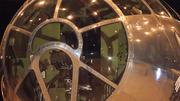 Looking inside the iconic nose of the B-29.