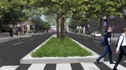 Douglas Avenue would include a landscaped center median under a plan endorsed Tuesday by the Wichita City Council.