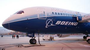 A Boeing 787 Dreamliner in Wichita