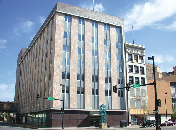 The Exchange Place project includes the former Fourth National Bank building at the northeast corner of Douglas and Market.