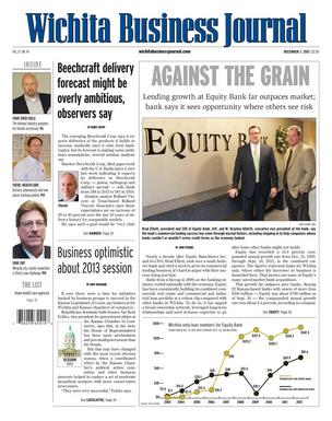 Top stories this week are about Hawker Beechcraft Corp., Equity Bank and the 2013 legislative session.