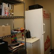 Scott Redler has a closet in his office complete with a full-size freezer and mini-fridge, where he stores food items he's testing that could eventually appear on the Freddy's menu.