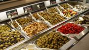 The olive bar at The Fresh Market.