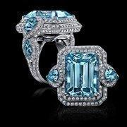 A Parisian aquamarine ring.