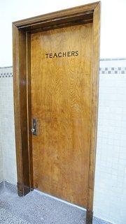 The teachers room.