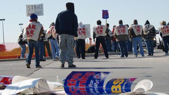 Machinists at Wichita's Bombardier Learjet were on strike for five weeks.