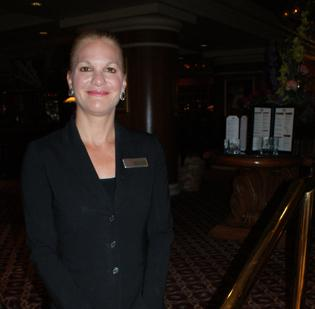 General Manager Michelle Ruffin-Stein stands outside the restaurant at the Wichita Marriott hotel, which will get a multimillion-dollar makeover this summer.