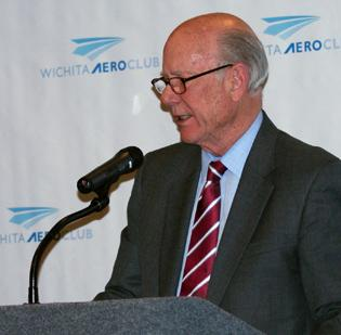 U.S. Sen. Pat Roberts gave the keynote address at Wednesday's Wichita Aero Club luncheon.