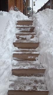 The steps leading up to the Wichita Business Journal offices.