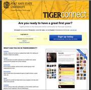 Fort Hays State University has its own social network, Tiger Connect, especially for first-year students.