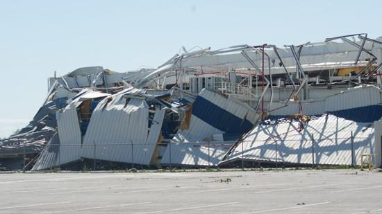 Several buildings at Spirit AeroSystems were damaged by April's tornado.