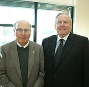 Surgicare founder Dr. Robert Knapp, left, and Medical Director Gerry Bassell. Knapp came back to Wichita from his home in Arizona to take part in an open house Thursday.
