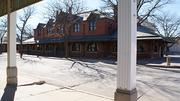 The former Martini's Steakhouse, seen from the former Grand Hotel, willbecome a restaurant. This is the former Rock Island passenger depot.
