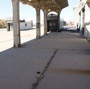 The rail platform west of Union Station.