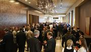 A crowd gathers ahead of J.P. Weigand's commercial real estate forecast event.