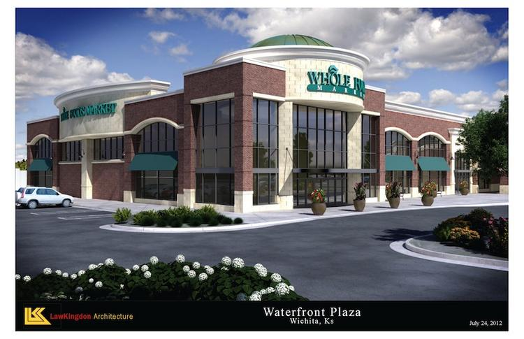 Whole Foods Market is the anchor tenant of Waterfront Plaza, at the northwest corner of 13th and Webb Road. It's set to open in November 2013. This is a digital rendering from architect Law Kingdon.